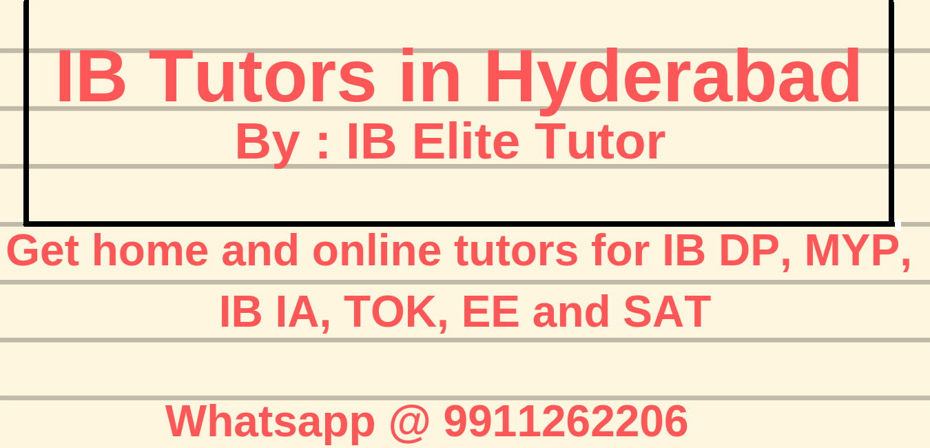 IB Tutors in Hyderabad