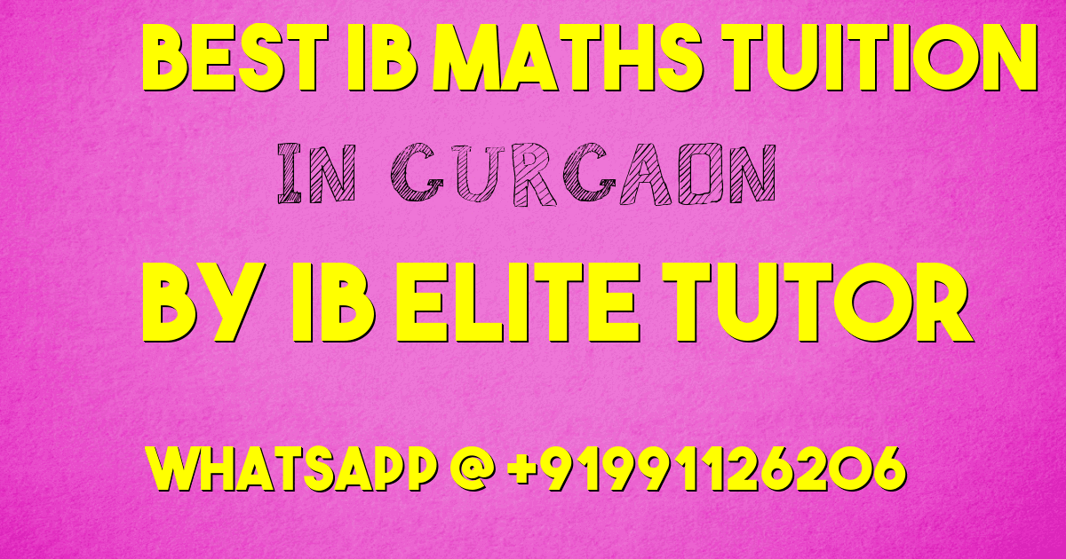 ib maths tuition in gurgaon
